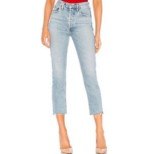 AGOLDE Riley Revolve High-rise mom jeans 28